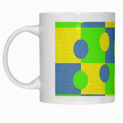 Abric Cotton Bright Blue Lime White Mugs