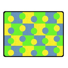 Abric Cotton Bright Blue Lime Fleece Blanket (small) by Simbadda