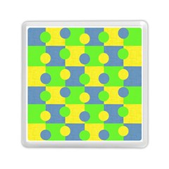 Abric Cotton Bright Blue Lime Memory Card Reader (square)
