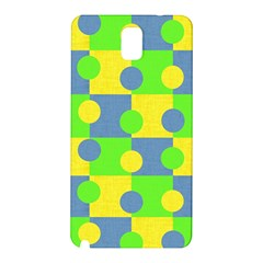 Abric Cotton Bright Blue Lime Samsung Galaxy Note 3 N9005 Hardshell Back Case by Simbadda