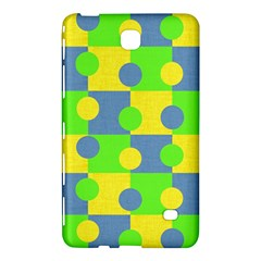 Abric Cotton Bright Blue Lime Samsung Galaxy Tab 4 (8 ) Hardshell Case  by Simbadda