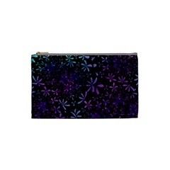 Retro Flower Pattern Design Batik Cosmetic Bag (small)  by Simbadda