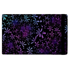 Retro Flower Pattern Design Batik Apple Ipad 2 Flip Case by Simbadda