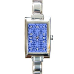 Floral Ornament Baby Boy Design Retro Pattern Rectangle Italian Charm Watch by Simbadda