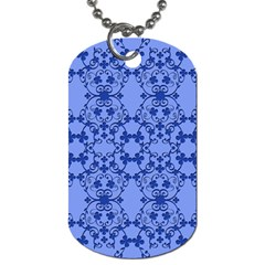 Floral Ornament Baby Boy Design Retro Pattern Dog Tag (one Side) by Simbadda