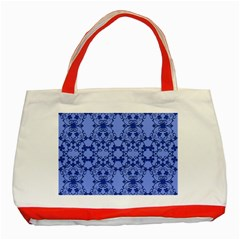 Floral Ornament Baby Boy Design Retro Pattern Classic Tote Bag (red)