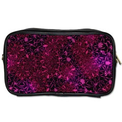 Retro Flower Pattern Design Batik Toiletries Bags by Simbadda