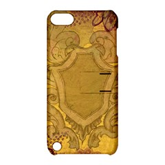 Vintage Scrapbook Old Ancient Retro Pattern Apple Ipod Touch 5 Hardshell Case With Stand by Simbadda