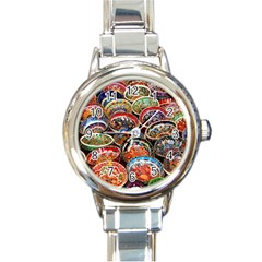 Art Background Bowl Ceramic Color Round Italian Charm Watch