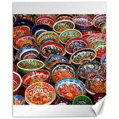 Art Background Bowl Ceramic Color Canvas 11  X 14   by Simbadda