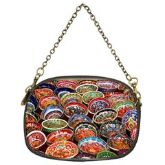 Art Background Bowl Ceramic Color Chain Purses (two Sides)  by Simbadda
