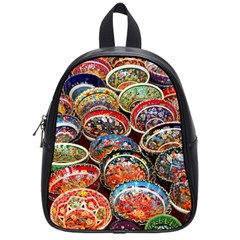 Art Background Bowl Ceramic Color School Bags (small)  by Simbadda