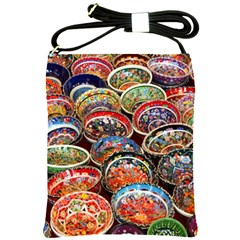 Art Background Bowl Ceramic Color Shoulder Sling Bags by Simbadda