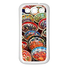 Art Background Bowl Ceramic Color Samsung Galaxy S3 Back Case (white) by Simbadda