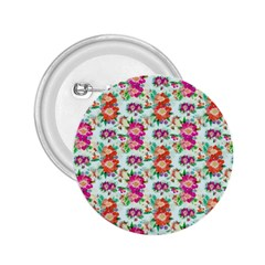 Floral Flower Pattern Seamless 2 25  Buttons