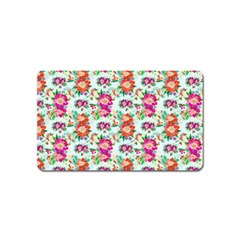 Floral Flower Pattern Seamless Magnet (name Card)