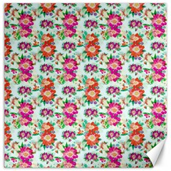 Floral Flower Pattern Seamless Canvas 12  X 12   by Simbadda