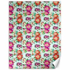 Floral Flower Pattern Seamless Canvas 12  X 16   by Simbadda