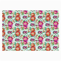 Floral Flower Pattern Seamless Large Glasses Cloth by Simbadda