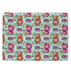 Floral Flower Pattern Seamless Cosmetic Bag (xxl)  by Simbadda