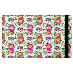 Floral Flower Pattern Seamless Apple Ipad 2 Flip Case by Simbadda