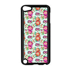 Floral Flower Pattern Seamless Apple Ipod Touch 5 Case (black) by Simbadda