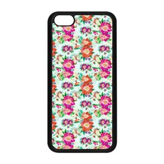 Floral Flower Pattern Seamless Apple Iphone 5c Seamless Case (black) by Simbadda