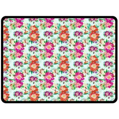 Floral Flower Pattern Seamless Double Sided Fleece Blanket (large)  by Simbadda