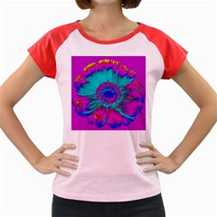 Retro Colorful Decoration Texture Women s Cap Sleeve T Shirt by Simbadda