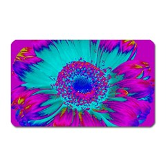 Retro Colorful Decoration Texture Magnet (rectangular) by Simbadda