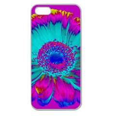 Retro Colorful Decoration Texture Apple Seamless Iphone 5 Case (clear)