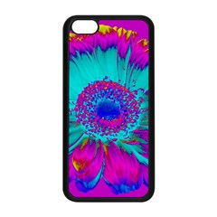 Retro Colorful Decoration Texture Apple Iphone 5c Seamless Case (black) by Simbadda