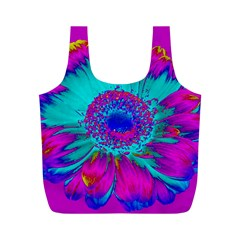 Retro Colorful Decoration Texture Full Print Recycle Bags (m)  by Simbadda