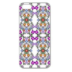 Floral Ornament Baby Girl Design Apple Seamless Iphone 5 Case (clear) by Simbadda