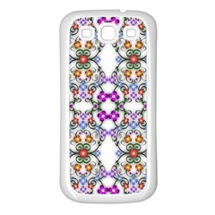 Floral Ornament Baby Girl Design Samsung Galaxy S3 Back Case (white) by Simbadda