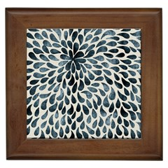 Abstract Flower Petals Floral Framed Tiles