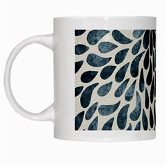 Abstract Flower Petals Floral White Mugs