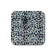 Abstract Flower Petals Floral Rubber Square Coaster (4 Pack)