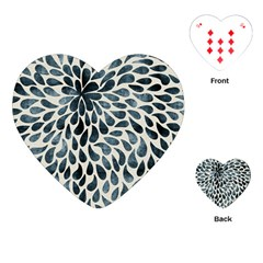 Abstract Flower Petals Floral Playing Cards (heart)  by Simbadda