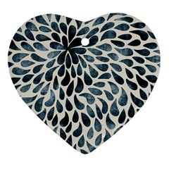 Abstract Flower Petals Floral Heart Ornament (two Sides)