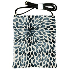 Abstract Flower Petals Floral Shoulder Sling Bags by Simbadda