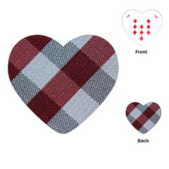 Textile Geometric Retro Pattern Playing Cards (heart)  by Simbadda