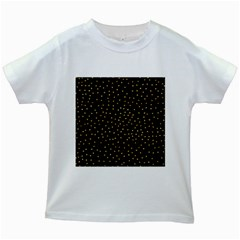 Grunge Retro Pattern Black Triangles Kids White T Shirts