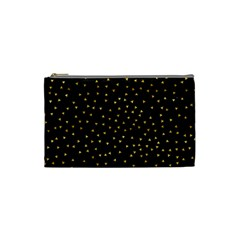 Grunge Retro Pattern Black Triangles Cosmetic Bag (small)