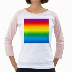 Rainbow Background Colourful Girly Raglans by Simbadda