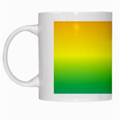 Rainbow Background Colourful White Mugs