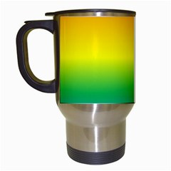 Rainbow Background Colourful Travel Mugs (white) by Simbadda