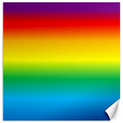 Rainbow Background Colourful Canvas 16  X 16   by Simbadda