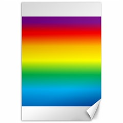 Rainbow Background Colourful Canvas 24  X 36  by Simbadda