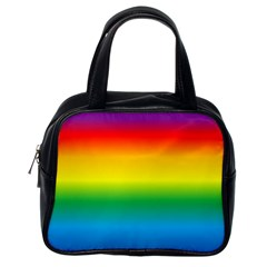 Rainbow Background Colourful Classic Handbags (one Side) by Simbadda